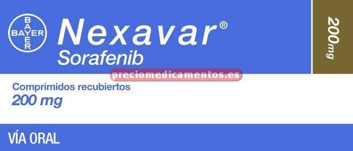 Caja NEXAVAR 200 mg 112 comprimidos recub pelicular
