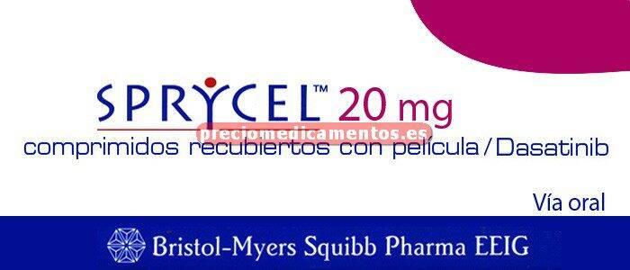 Caja SPRYCEL 20 mg 56 comprimidos recubiertos