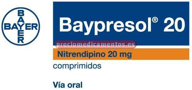 Caja BAYPRESOL 20 mg 30 comprimidos