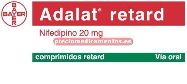 Caja ADALAT RETARD 20 mg 60 comprimidos liber modif