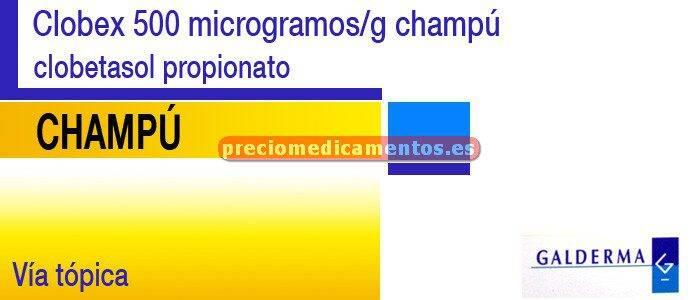 Caja CLOBEX 0,5 mg/g champú 125 ml