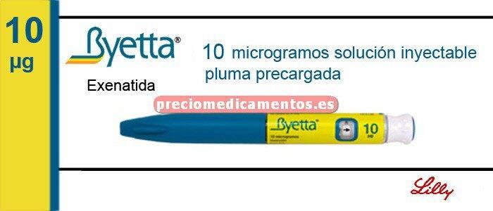 Caja BYETTA 10 mcg/dosis 1 pluma precargada 60 dosis