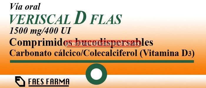 Caja VERISCAL D FLAS 1500 mg/400 UI 60 compr bucodisper