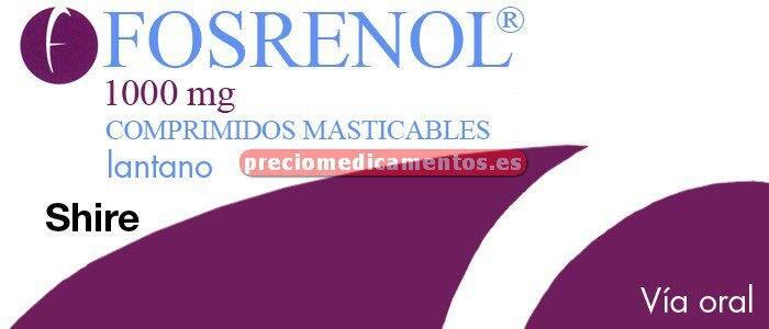 Caja FOSRENOL 1000 mg 90 comprimidos masticables