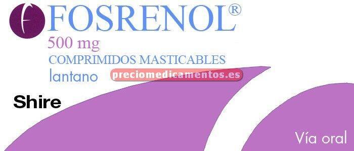 Caja FOSRENOL 500 mg 90 comprimidos masticables