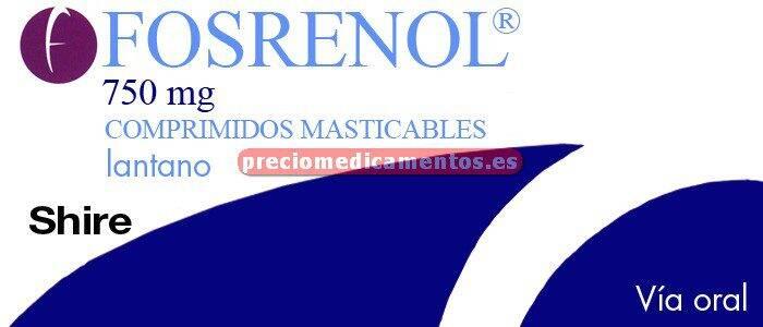 Caja FOSRENOL 750 mg 90 comprimidos masticables