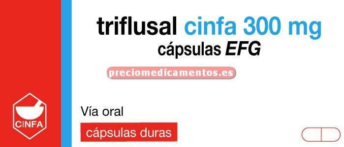 Caja TRIFLUSAL CINFA EFG 300 mg 30 cápsulas