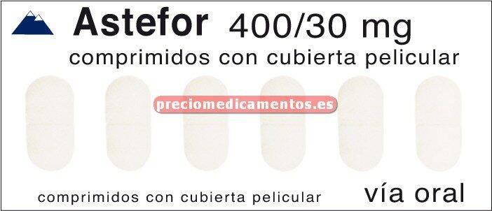Caja ASTEFOR 400/30 mg 30 comprimidos con cubierta