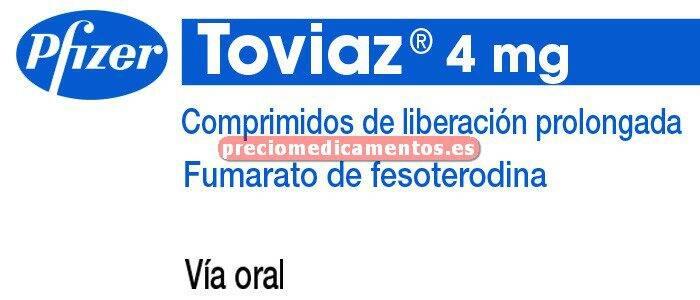 Caja TOVIAZ 4 mg 28 comprimidos liberación prolongada