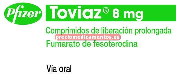 Caja TOVIAZ 8 mg 28 comprimidos liberación prolongada