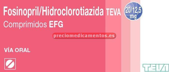 Caja FOSINOPRIL/HCTZ TEVA EFG 20/12.5 mg 28 compr