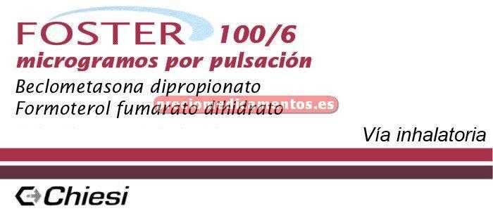Caja FOSTER 100/6 mcg aerosol 120 dosis