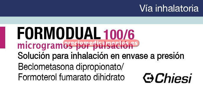 Caja FORMODUAL 100/6 mcg aerosol 120 dosis