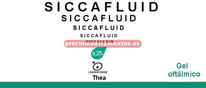 Caja SICCAFLUID 2,5 mg/g gel oftálmico 10 g