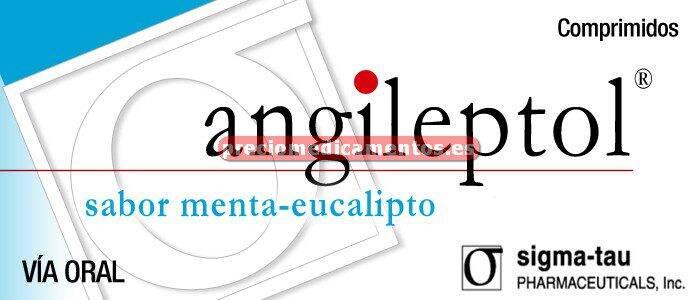 Caja ANGILEPTOL 30 compr para chupar MENTA-EUCALIPTO