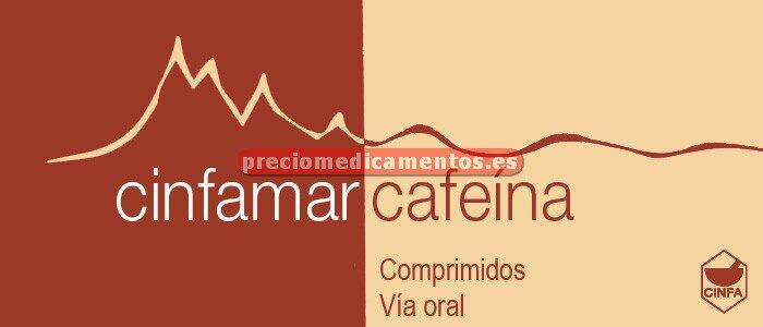 Caja CINFAMAR CAFEINA 50/50 mg 10 comprimidos