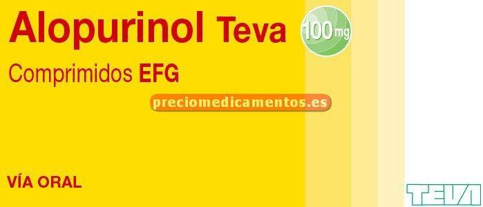 Caja ALOPURINOL TEVA EFG 100 mg 100 comprimidos
