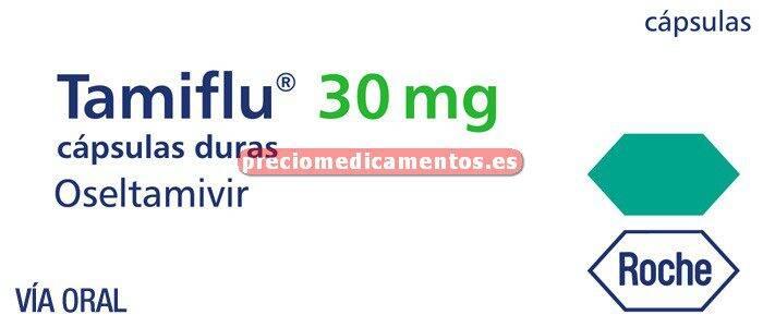 Caja TAMIFLU 30 mg 10 cápsulas duras