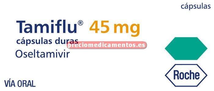 Caja TAMIFLU 45 mg 10 cápsulas duras