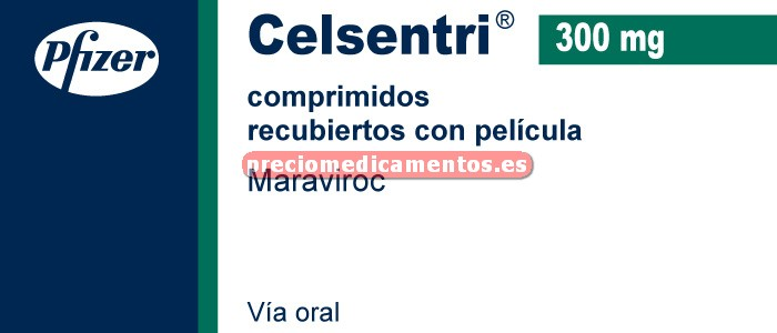 Caja CELSENTRI 300 mg 60 comprimidos recubiertos
