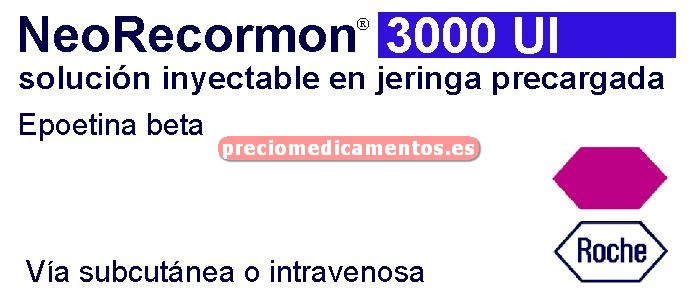 Caja NEORECORMON 3000 UI 6 jeringas precargadas