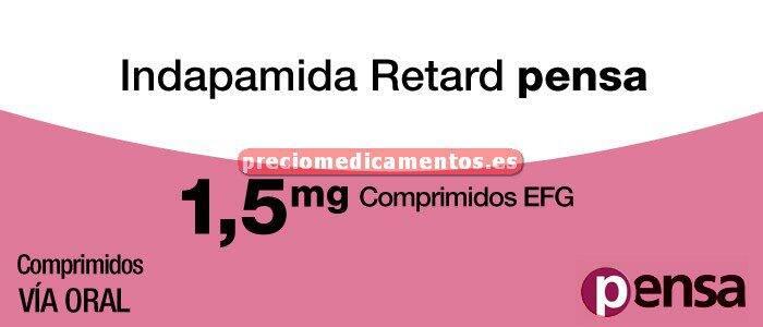 Caja INDAPAMIDA RETARD PENSA EFG 1,5 mg 30 comp liber