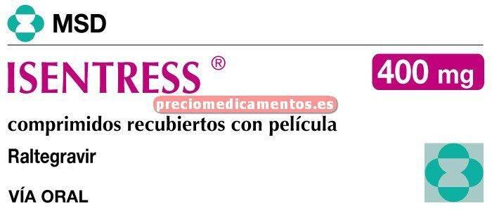Caja ISENTRESS 400 mg 60 comprimidos recubiertos pelic