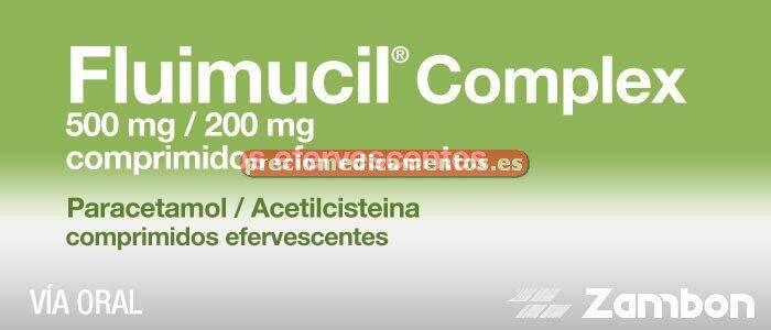 Caja FLUIMUCIL COMPLEX 500/200 mg 12 comp efervescentes