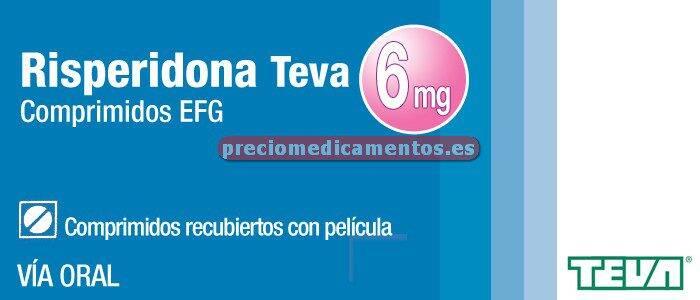 Caja RISPERIDONA TEVA EFG 6 mg 60 comprimidos recub