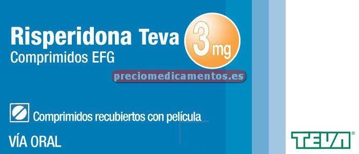 Caja RISPERIDONA TEVA EFG 3 mg 60 comprimidos recub