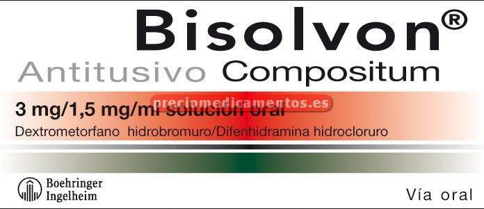Caja BISOLVON ANTITUSIVO COMPOSITUM solución oral 200ml