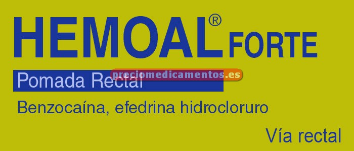 Caja HEMOAL FORTE pomada rectal 30 g
