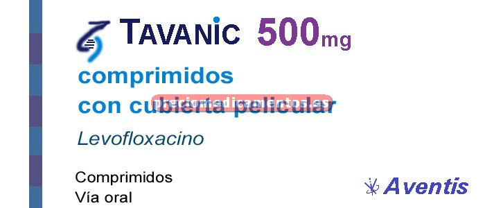 Caja TAVANIC 500 mg 7 comprimidos recubiertos