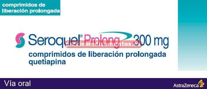 Caja SEROQUEL PROLONG 300 mg 60 compr liber prolongada