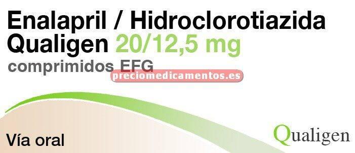 Caja ENALAPRIL/HCTZ QUALIGEN EFG 20/12.5 mg 28 comp