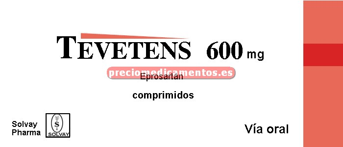 Caja TEVETENS 600 mg 28 comprimidos recubiertos