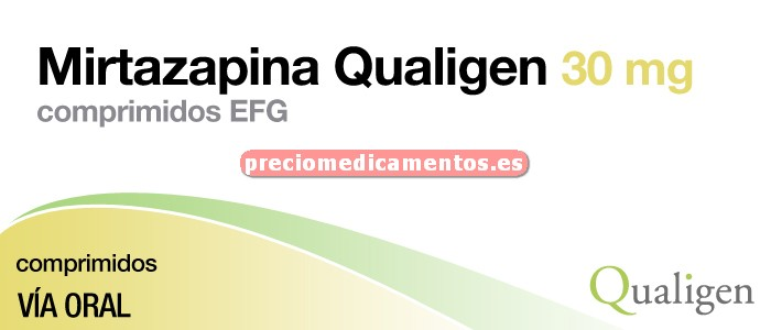 Caja MIRTAZAPINA QUALIGEN EFG 30 mg 30 comprimidos rec