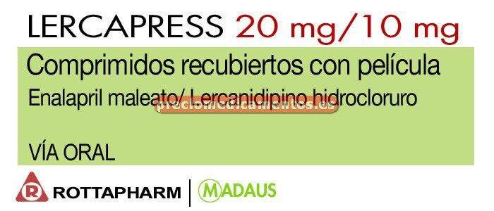 Caja LERCAPRESS 20/10 mg 28 comprimidos recubiertos