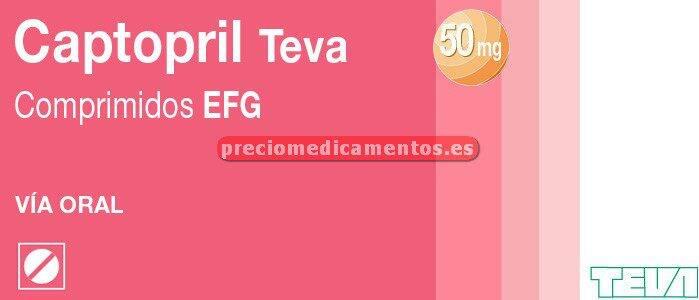 Caja CAPTOPRIL TEVA EFG 50 mg 30 comprimidos