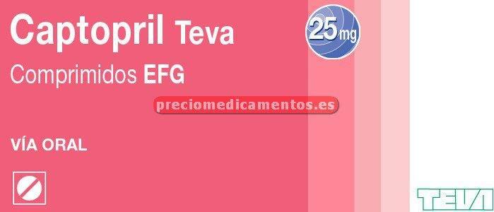 Caja CAPTOPRIL TEVA EFG 25 mg 60 comprimidos