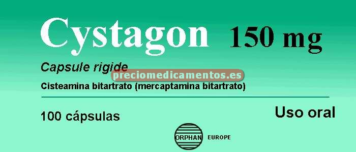 Caja CYSTAGON 150 mg 100 cápsulas
