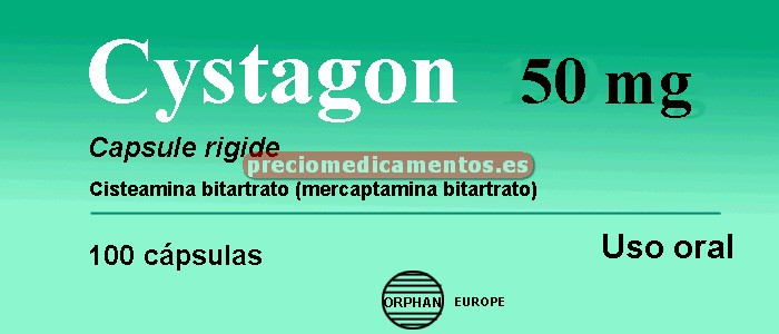 Caja CYSTAGON 50 mg 100 cápsulas