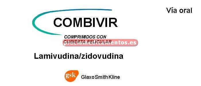 Caja COMBIVIR 150/300 mg 60 comprimidos recubiertos