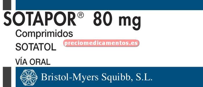 Caja SOTAPOR 80 mg 30 comprimidos