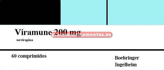 Caja VIRAMUNE 200 mg 60 comprimidos