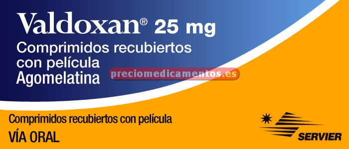 Caja VALDOXAN 25 mg 28 comprimidos recubiertos