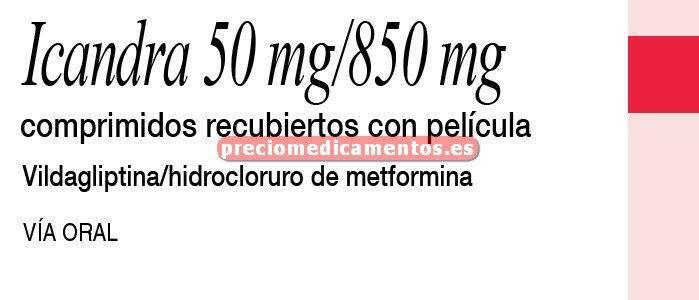 Caja ICANDRA 850/50 mg 60 comprimidos recubiertos