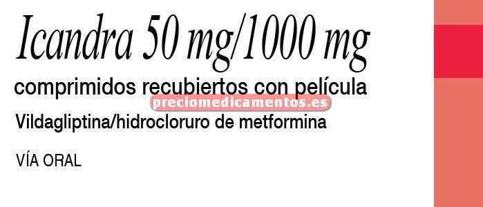 Caja ICANDRA 1000/50 mg 60 comprimidos recubiertos