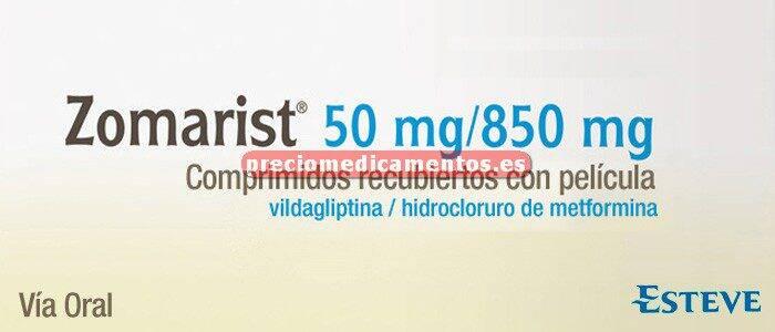 Caja ZOMARIST 850/50 mg 60 comprimidos recubiertos