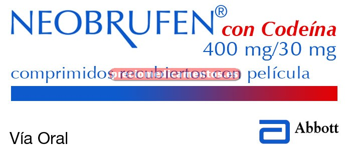 Caja NEOBRUFEN CON CODEINA 400/30 mg 30 comprimidos rec